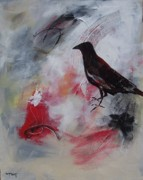 Corporate Painting Prints - Raven Morgan 006 Print by Donna Frost
