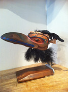 Wood Carving Originals - Raven by Shane  Tweten