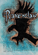 Series Drawings Framed Prints - Ravenclaw Eagle Framed Print by Jera Sky