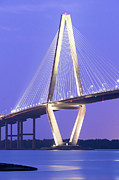 Patriots Prints - Ravenel Lights  Print by Drew Castelhano