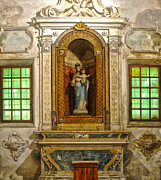 Ravenna Italy - Sant Apollinare Nuovo - Madonna And Child Print by Gregory Dyer