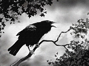 Cry Digital Art - Ravens Song by Robert Foster