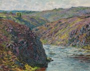 End Of The Day Posters - Ravines of the Creuse at the End of the Day Poster by Claude Monet