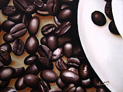 Brew Painting Framed Prints - Raw Caffeine Framed Print by Kayleigh Semeniuk