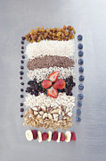 Granola Posters - Raw Nuts, Fruit And Grains Poster by Laurie Castelli