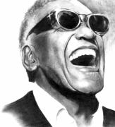 Rhythm And Blues Drawings - Ray by Alexander Gradjushko