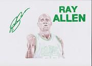 Ray Allen Print by Toni Jaso