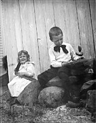 Old Toys Originals - Ray and Anna with Toys by Jan Faul