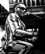 Playing Piano Posters - Ray Charles, Ca. 1980 Poster by Everett