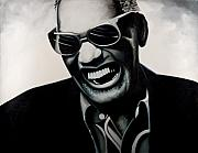 Jazz Pianist Framed Prints - Ray Charles Framed Print by Jocelyn Passeron
