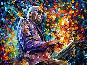 Ray Charles Art - Ray Charles by Leonid Afremov