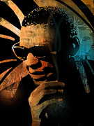 African American Men Paintings - Ray Charles by Paul Sachtleben