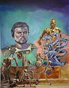Ray Harryhausen Tribute Jason And The Argonauts Print by Bryan Bustard