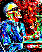 Ray Charles Prints - Ray Print by Mike OBrien