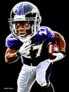 Nfl Prints - Ray Rice Print by Stephen Younts
