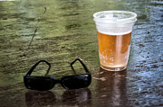 Bier Digital Art Framed Prints - Raybans and a Beer Framed Print by Bill Cannon