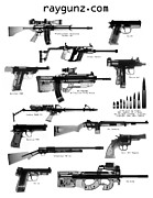 Firearm Accessories Prints - Raygunz Poster Print by Ray Gunz