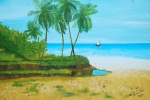 Louis Paintings - Raymond Les Bains Jacmel Haiti by Nicole Jean-Louis