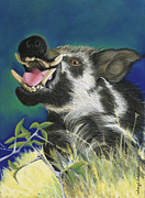 Football Pastels - Razorback by Tracy L Teeter