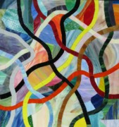 Colorful Glass Art Originals - Razzle Dazzle by Charles McDonell