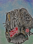 Baseball Glove Paintings - RBG 36 B Ken Griffey Jr. by Jame Hayes