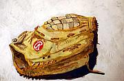 Baseball Glove Painting Metal Prints - RBG 36 Dale Murphy  Metal Print by Jame Hayes