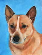 Heeler Paintings - Re Heeler by Kim Garcia