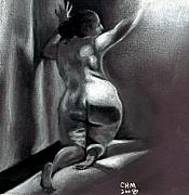 Female Nude Drawings - Reach by Cartoon Hempman