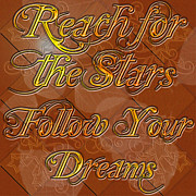 Clayton Digital Art Framed Prints - Reach for the Stars Follow your Dreams Framed Print by Clayton Bruster