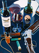 Wine Art Paintings - Reached the Limit by Christopher Mize