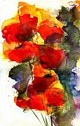 Poppies Paintings - Reaching by Anne Duke