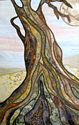 Tree Roots Tapestries - Textiles Posters - Reaching Poster by Doria Goocher
