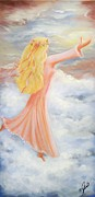 Girl Paintings - Reaching for Heaven by Joni McPherson