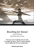 Realization Digital Art - Reaching for Sunset quote card by Laurel D Rund
