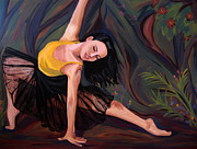 Dance Paintings - Reaching in The Forest by Rachelle Dyer
