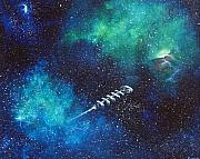 Outerspace Paintings - Reaching Out by Murphy Elliott