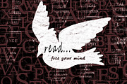Reading Mixed Media Posters - Read Free Your Mind Brick Poster by Angelina Vick