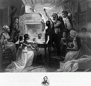 Abolition Photo Posters - Reading Emancipation Proclamation Poster by Photo Researchers