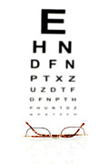 Scrutiny Posters - Reading Glasses Poster by Robert Kirk