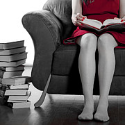Woman Relaxing Prints - Reading Print by Joana Kruse