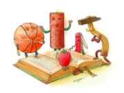 Reading  Print by Kestutis Kasparavicius