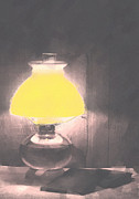 Oil Lamp Prints - Reading Lamp Print by One Rude Dawg Orcutt