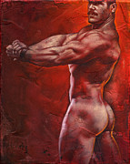 Erotic Naked Male Framed Prints - Ready Framed Print by Chris  Lopez