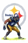 Steelers Drawings - Ready for Action by Erik Schutzman