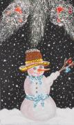 Christmas Greeting Mixed Media - Ready for fun by Georgeta  Blanaru