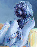 Canine Painting Prints - Ready For Her Closeup Print by Kimberly Santini
