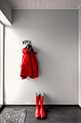 Coat Hanger Metal Prints - Ready for Rain Metal Print by Ari Salmela