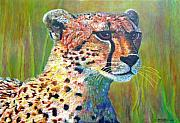 Cheetah Painting Framed Prints - Ready for the Hunt Framed Print by Michael Durst