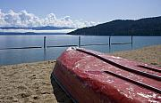 Lake Pend Oreille Posters - Ready in Red Poster by Idaho Scenic Images Linda Lantzy