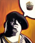 Rapper Paintings - Ready To Bake - Notorious B.I.G. by Ryan Jones